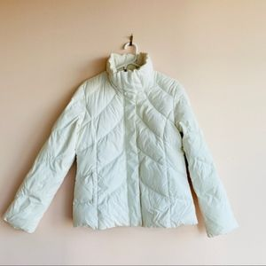 Tommy Hilfiger White Puffer Down Jacket Size L
